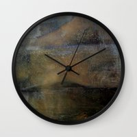 imagerybydianna Wall Clocks featuring shatter by Imagery by dianna