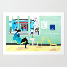 café dans le Art Print