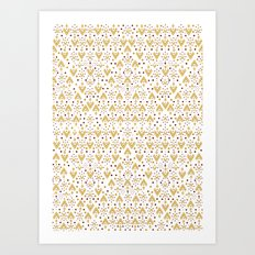 Geometric Diamond repeating Art Print