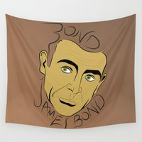 bond Wall Tapestries featuring Bond, James Bond by FSDisseny