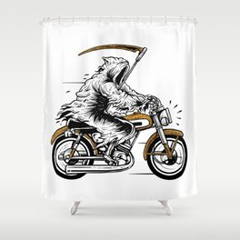 Reaper Racer Shower Curtain