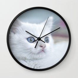 Cat by Hike Shaw Wall Clock