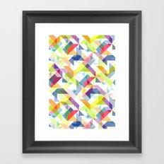 Aztec Geometric II Framed Art Print