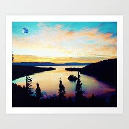 Emerald Bay State Park, South Lake Tahoe, United States Art Print