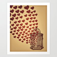 Let Love Out Art Print