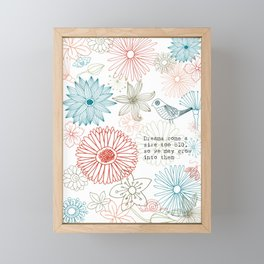 Floral dreams Framed Mini Art Print