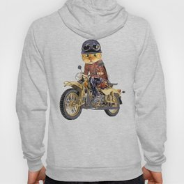 Cat riding motorcycle Hoody