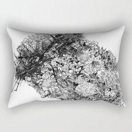 nature sacrifice-black and white portrait Rectangular Pillow