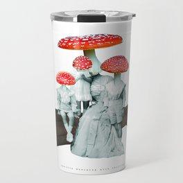 amanita muscaria with children Travel Mug