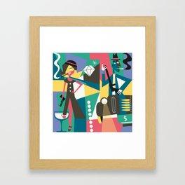 Gangster Couple Framed Art Print