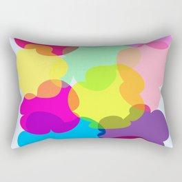 Flower Shapes Rectangular Pillow