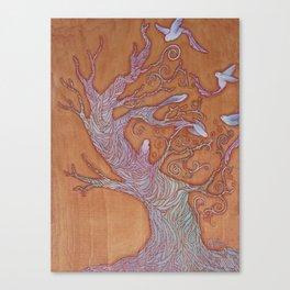 """""""Bird Tree"""" Canvas Print"""