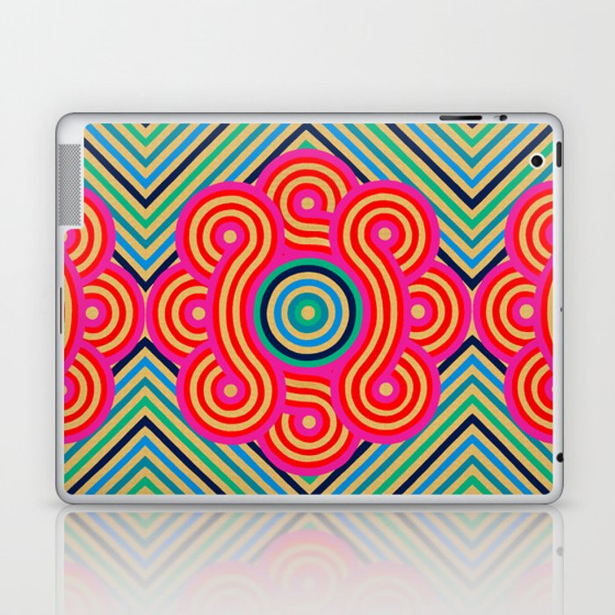 Cosmic Vibrations Within Laptop & iPad Skin