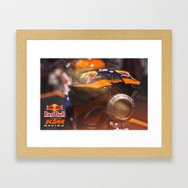 KTM Racing motorbike Framed Art Print