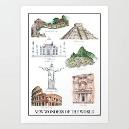 The New Wonders of the World Art Print