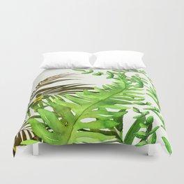 Watercolor Plants Duvet Cover