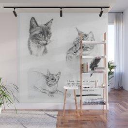 Cats & Zen Wall Mural