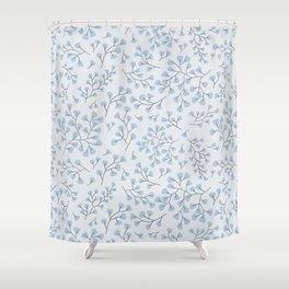 Blue Maidenhair Shower Curtain
