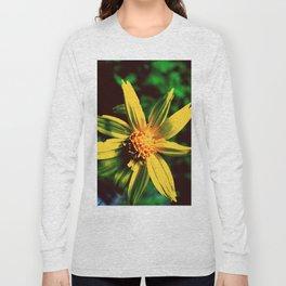 Vintage Yellow Flower Long Sleeve T-shirt