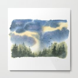 Forest Storms Metal Print