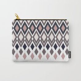 Diamonds in colors of pale rose and sand Carry-All Pouch