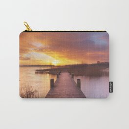 I - Boardwalk over water at sunrise, near Amsterdam The Netherlands Carry-All Pouch
