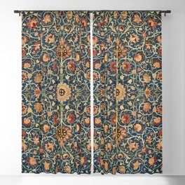 William Morris Floral Carpet Print Blackout Curtain