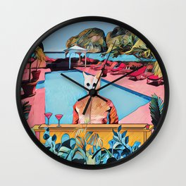 Kitty pool Wall Clock