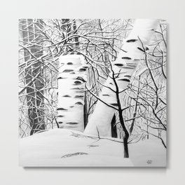 The Birches Metal Print