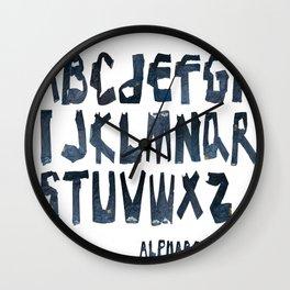 ALPHABET JEAN Wall Clock
