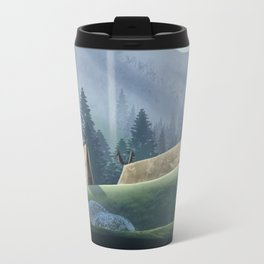 Viking Village in the Forest Travel Mug