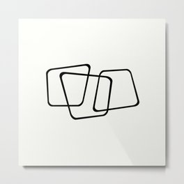 Simply Minimal - Black and white abstract Metal Print