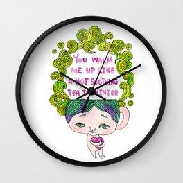 Warm Tea Wall Clock