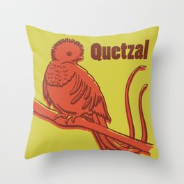 Animal Alphabet - Quetzal Throw Pillow