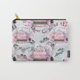 Shabby Pink Vintage Typewriters Carry-All Pouch