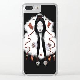Inhuman - Japanese Fox Spirit Kitsune Clear iPhone Case