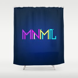 Minimal Type (Colorful Edm) Typography - Design Shower Curtain