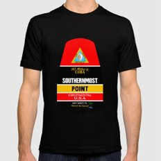 Southern Most Point, Key West, Florida/サザン・モスト・ポイント Black Mens Fitted Tee MEDIUM