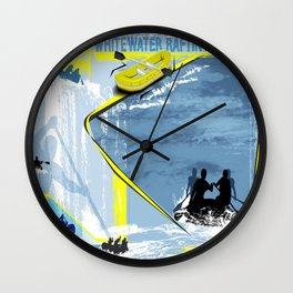 Whitewater Rafting Wall Clock