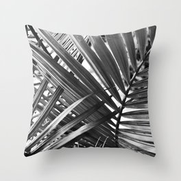 NL 11 Black and White Leaves Throw Pillow