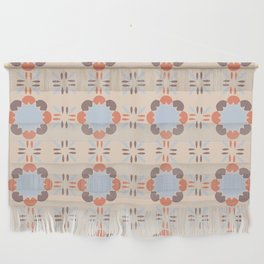 Blue Retro Tile Wall Hanging