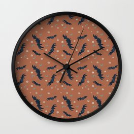 Fall Bats Wall Clock