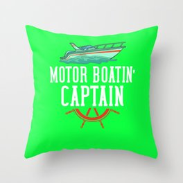 Motor Boating Gift Motorboat Speed boat Throw Pillow