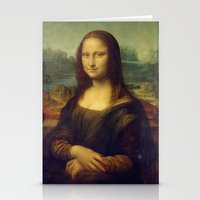 mona lisa Stationery Cards featuring Mona Lisa by TilenHrovatic