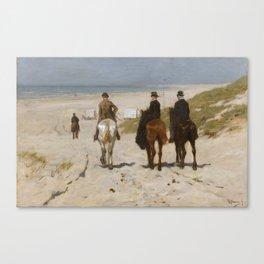 Morning Ride On The Beach - Anton Mauve Canvas Print