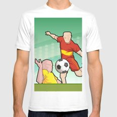 Soccer game White Mens Fitted Tee MEDIUM