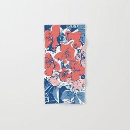 Retro Hydrangea Hand & Bath Towel