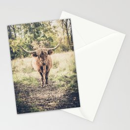 Highland scottish cow cattle long horn Stationery Cards