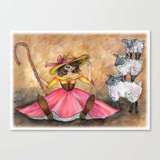 Peep and her Sheep Canvas Print