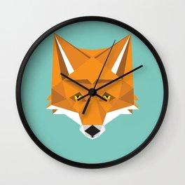 February Fox Wall Clock